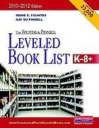 The Fountas and Pinnell leveled book list K-8+