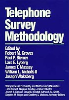 Telephone survey methodology : [papers from a conference held Nov. 8-11, 1987 at Charlotte, N.C.]