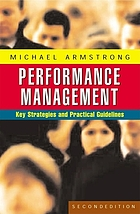 Performance management : key strategies and practical guidelines