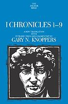 I Chronicles : a new translation with introduction and commentary