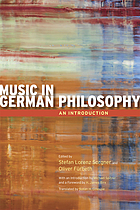 Music in German philosophy : an introduction