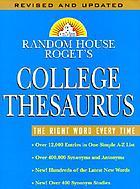 Random House Roget's college thesaurus