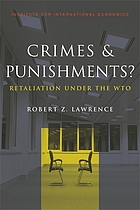 Crimes & punishments? : retaliation under the WTO