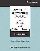 Law office procedures manual for solos and small firms