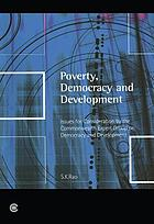 Poverty, democracy, and development issues for consideration by the Commonwealth Expert Group on Democracy and Development