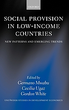 Social provision in low-income countries : new patterns and emerging trends