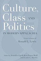 Culture, class, and politics in modern Appalachia : essays in honor of Ronald L. Lewis