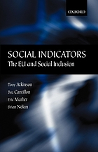 Social indicators the EU and social inclusion