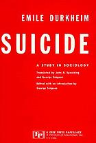 Suicide : a study in sociology