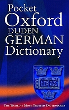 The pocket Oxford-Duden college German dictionary : German-English, English-German