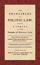 The principles of politic law; being a sequel to The principles of natural law
