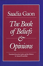 The book of beliefs and opinions