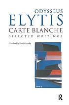 Carte Blanche : selected writings