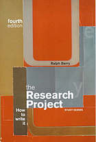 The research project : how to write it