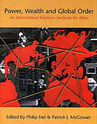 Power, wealth, and global order : an international relations textbook for Africa