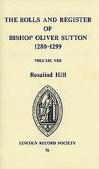 The rolls and register of Bishop Oliver Sutton, 1280-1299
