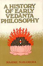 A history of early Vedānta philosophy