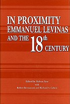 In proximity : Emmanuel Levinas and the eighteenth century