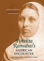 Pandita Ramabai's American encounter the peoples of the United States (1889)