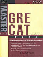 Master the GRE CAT 2003