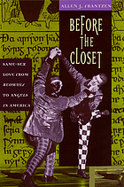 Before the closet : same-sex love from Beowulf to Angels in America