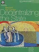 Beyond the center : decentralizing the State