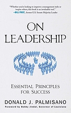 On leadership : essential principles for success
