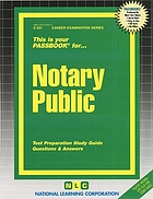 This is your passbook for-- notary public : test preparation study guide : questions & answers