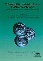 Vulnerability and adaptation to climate change : interim results from the U.S. Country Studies Program