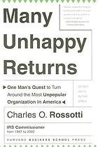 Many unhappy returns : one man's quest to turn around the most unpopular organization in America