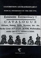 'Exhibition extraordinary!!' : radical broadsides of the mid 1790s