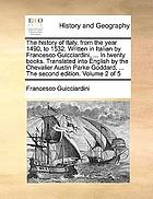 Histoire des guerres d'Italie traduite de l'italien de François Guichardin.