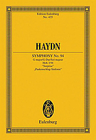 Symphony, no. 94 : (London, no. 3) G major : Surprise