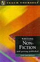 Writing non-fiction and getting published