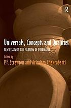Universals, concepts and qualities : new essays on the meaning of predicates