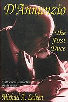 The first duce : D'Annunzio at Fiume