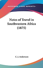 Notes of travel in south-western Africa