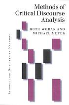 Methods of critical discourse analysis