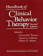Handbook of clinical behavior therapy