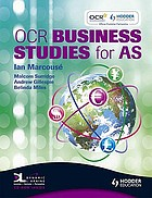 OCR business studies for AS