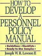 How to develop a personnel policy manual