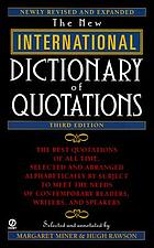The New international dictionary of quotations
