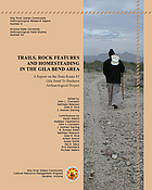 Trails, rock features, and homesteading in the Gila Bend area : a report on the State Route 85, Gila Bend to Buckeye archaeological project