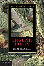 The Cambridge Companion to English Poets