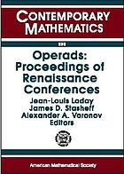 Operads : proceedings of renaissance conferences