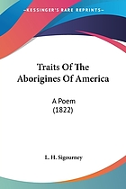 Traits of the aborigines of America a poem