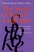The study of signed languages : essays in honor of William C. Stokoe
