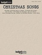 Christmas songs : piano, vocal guitar