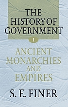 The history of government from the earliest timesThe history of government from the earliest times