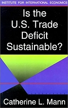 Is the U.S. trade deficit sustainable?